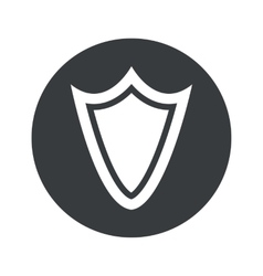 Monochrome round shield icon vector