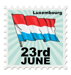 Post stamp of national day of luxembourg vector