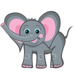 elephant smile vector image