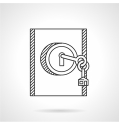 Lock with key line icon vector