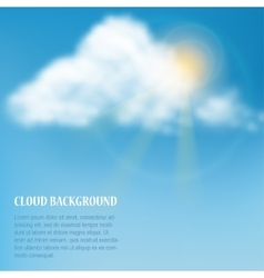 Heaven with cloud vector