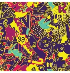 Graffiti colorful seamless pattern vector