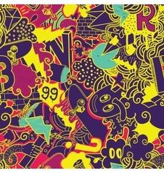 Graffiti colorful seamless pattern vector