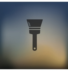 Paint brush icon on blurred background vector