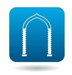 Ornamental arch icon simple style vector