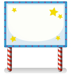 An empty frame banner with stars vector image