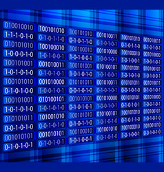 blue binary computer code repeating vector image vector image