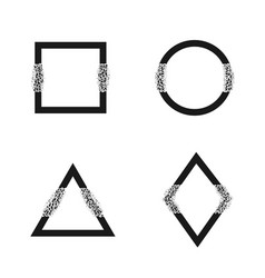 Broken geometric shapes vector