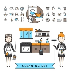 Cleaning design concept vector