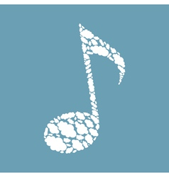 Cloud the note vector image vector image