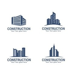 Construction building logo vector