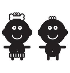 Cute simple children - vector