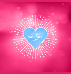 Decorative circle flat line happy valentines day vector
