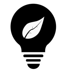 ecological lightbulb icon ecological lightbulb on vector image