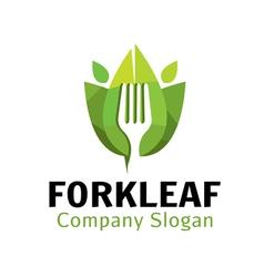 Fork leaf design vector