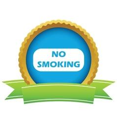 Gold no smoking logo vector image