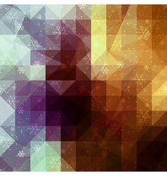 Gold winter background with triangle texture vector image