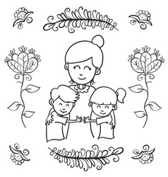 Greeting card mother day style design vector