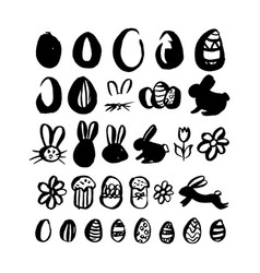hand drawn brush easter vector image