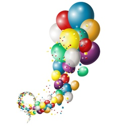 Holiday background with colorful balloons vector