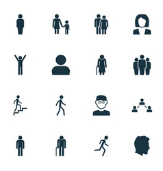 Human icons set collection of ladder scientist vector