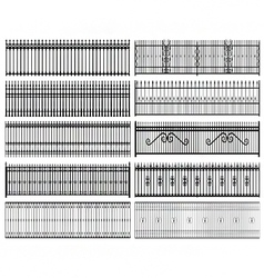 Iron railings vector image vector image