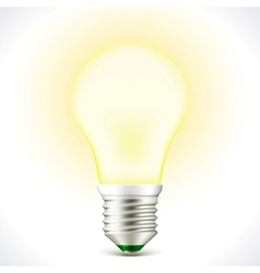 Lighted Energy saving bulb lamp vector image vector image