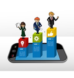 Mobile Business infographic concept vector image vector image