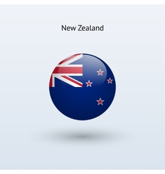 New Zealand round flag vector image