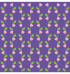 Pink Flowers Background vector image