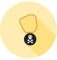 Pirate necklace vector