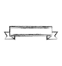 ribbon elegant frame icon vector image vector image
