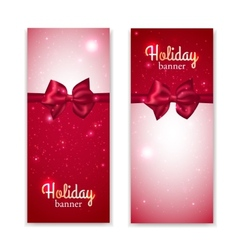 Set of two vertical holiday banners with vector image