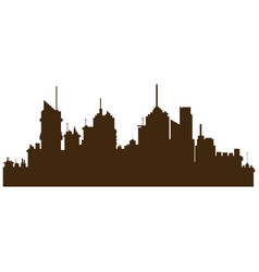 Silhouette buildings city towers image vector