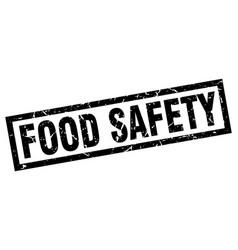 Square grunge black food safety stamp vector