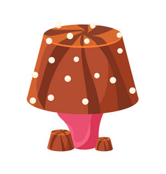 Table lamp made of chocolate colorful cartoon vector