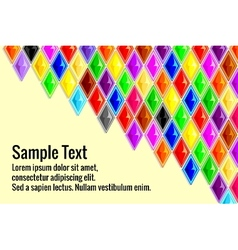 various colorful diamond background vector image vector image