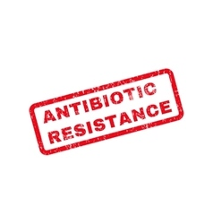 Antibiotic resistance text rubber stamp vector