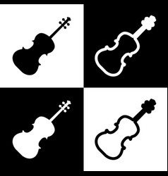 Violine sign   black and white vector