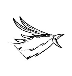 Phoenix head bird mythological magic image vector