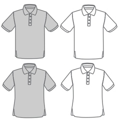 Polo shirt set vector