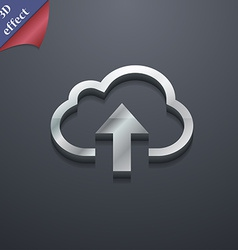 Upload from cloud icon symbol 3d style trendy vector