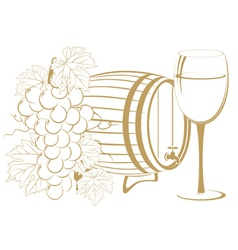 cask wine vector image