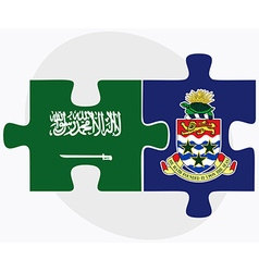 Saudi arabia and cayman islands vector