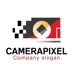 Camera pixel design vector