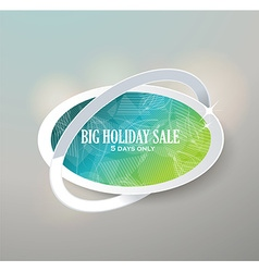 Big sale glass sign sale and discounts vector