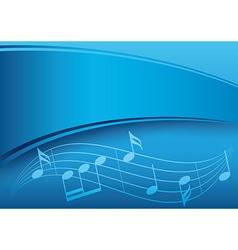 Dark blue music background with gradient vector