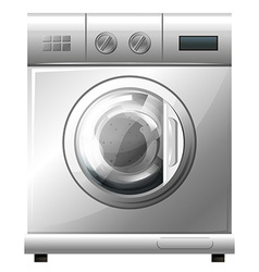 Washing machine on white background vector