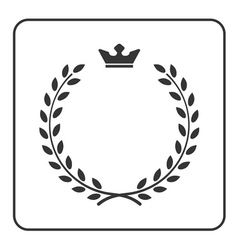 Laurel wreath icon crown flat symbol victory vector