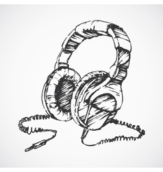 Sketched headphones vector